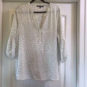 Stitch Fix 2x 3/4 bubble sleeve polka dot blouse